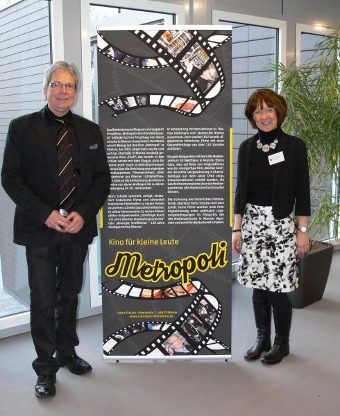 """Metropoli"" Heinz Schulte und Kreisarchivarin Ute Langkamp"