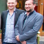 Ebenfalls treue und zuverlässige Weg Begleiter des Metropoli. Hannes Scheffing l. und Patrick Paffrath vom Cinetech Erlebniskino Rheine.
