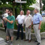Mit Spannung verfolgten Metropoli Team Mitglieder die versierten Aufnahmetechniken des Piloten der Fa. telepress Film & Video GmbH aus Emsdetten.